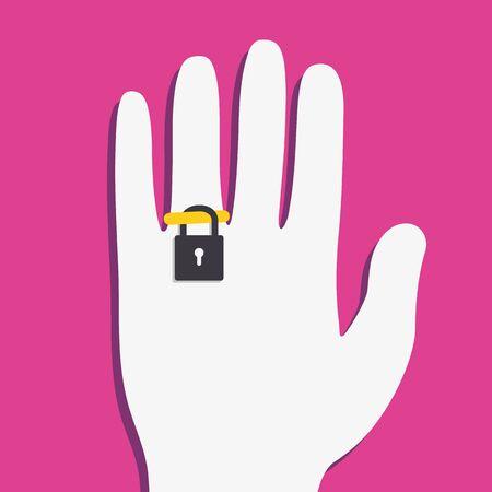 handcuffs woman: Ring locker