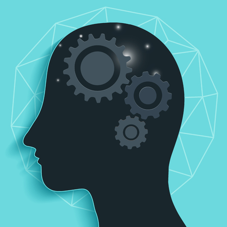 gear head: Gear head brain Illustration