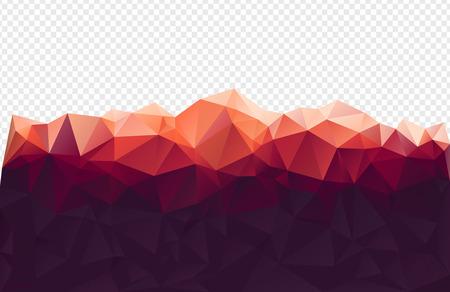 montagna: Montagna di sfondo rosso poligono Vettoriali