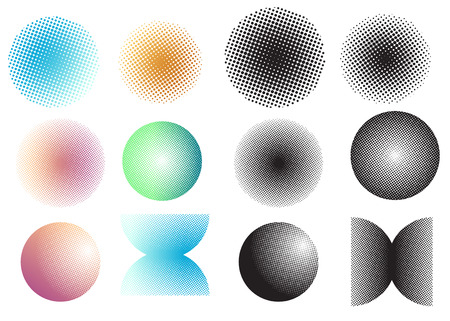 screen: Dot screen tone Illustration