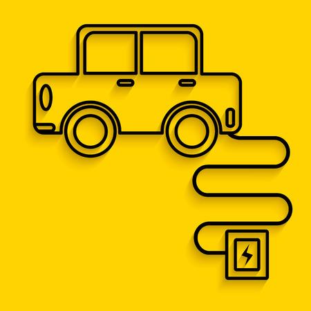 Electronic car charge Illustration