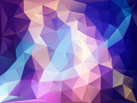 hilight: Background on blue and pink polygon Illustration