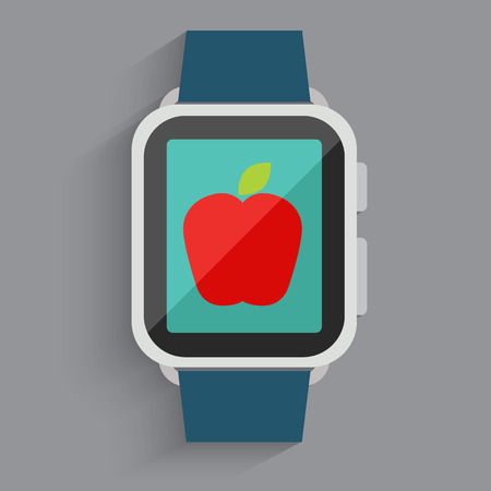 Apple in digital watch