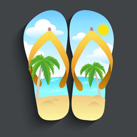 slipper: Beach slipper Illustration