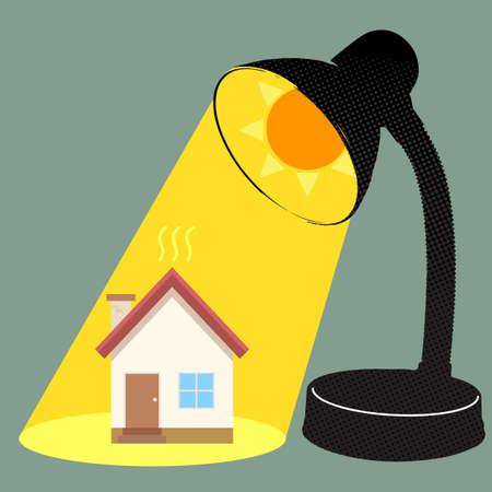 Sun burn house Ilustração