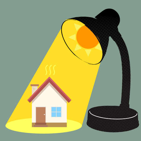 burn: Sun burn house Illustration