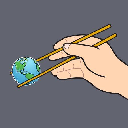 chopstick: World Chopstick cartoon