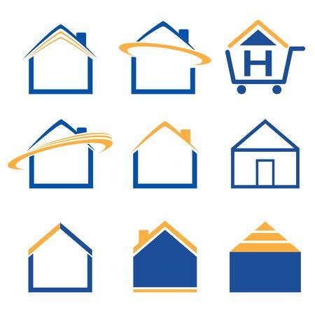 bought: House icon set Illustration