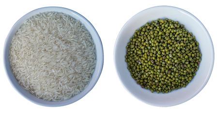 green bean: Rice and green bean