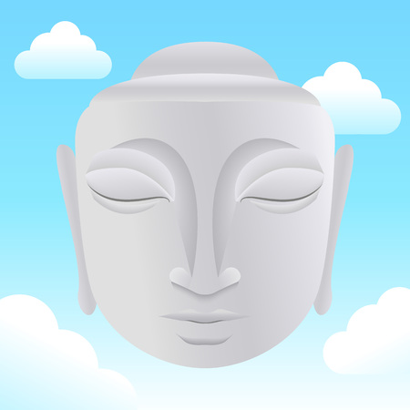 profess: Buddha statue in sky Illustration