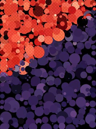 millennium: Purple and red dot pattern Illustration