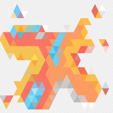 form: Colorful free form triangle shape Illustration