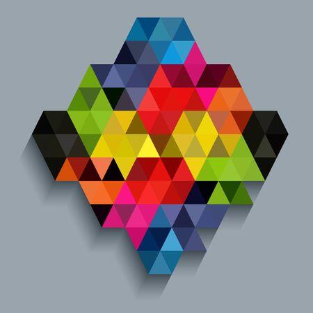 millennium: Colorful diamond with triangle texture Illustration