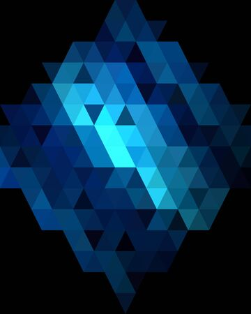 deep blue: Deep blue diamond graphic background