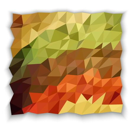 earth tone: Earth tone color of triangle abstract wallpaper