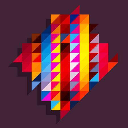 diamond shape: Rainbow triangles background with diamond shape Illustration