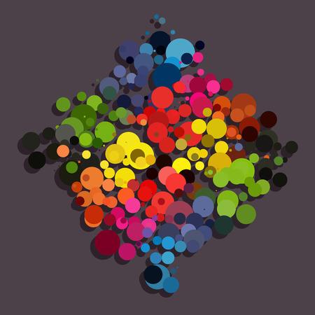 rainbow circle: Rainbow circle background diamond shape