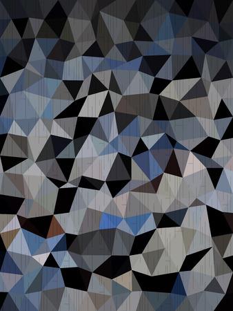 millennium: Dark blue and black triangles background Illustration
