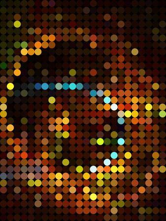 millennium: Abstract galaxy from bubble brown texture Illustration