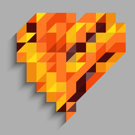 millennium: Abstract heart with orange triangle