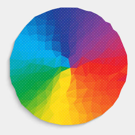 millennium: Colorful circle and dot pattern Illustration