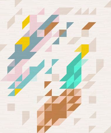 millennium: Abstract Pastel color of triangle pattern Illustration
