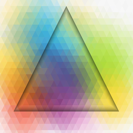dimension: Dimension of triangle art colorful background