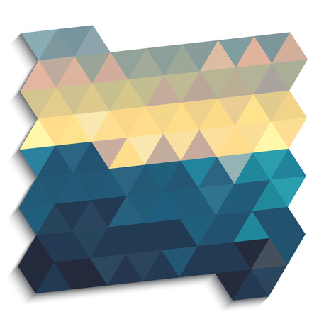 millennium: Night sky abstract triangles background