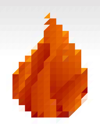 millennium: Abstract fire from rectangles pattern