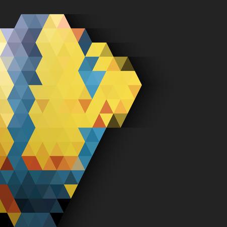 papier peint noir: Triangles color�s sur fond d'�cran noir la moiti� Illustration