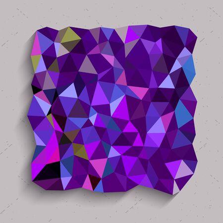 Purple square in triangles texture Иллюстрация