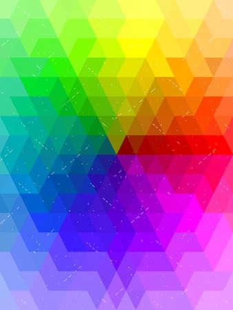millennium: Antique rainbow color chart background