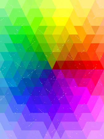 color chart: Antique rainbow color chart background