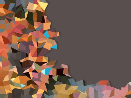 bacground: Colorful triangles on smooth purple bacground Illustration