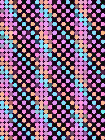 straight: Color dot straight pattern