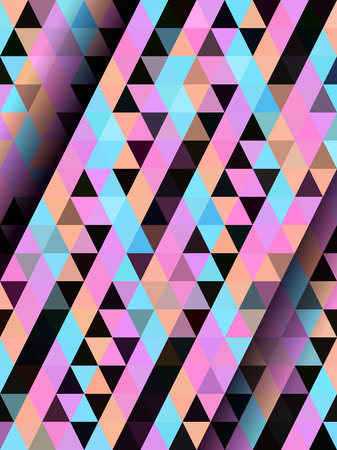straight: Color straight triangle pattern Illustration