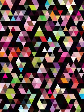 papier peint noir: R�sum� triangles color�s sur fond d'�cran noir Illustration