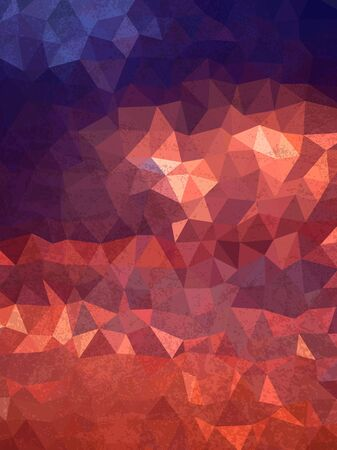 grudge: Abstract sky of sunrise with triangles and grudge texture Illustration