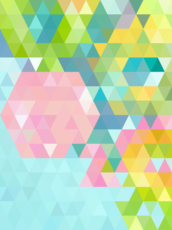 bright: Bright green Abstract triangles background