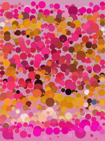 millennium: Abstract screen dot and pink circle background Illustration