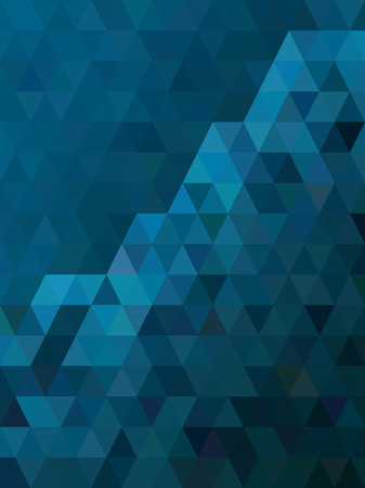 crystal background: Abstract blue triangle texture
