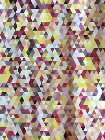 millennium: Abstract colorful triangles pattern