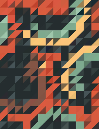 millennium: Abstract retro color of triangles background