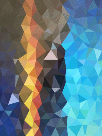millennium: Triangles pattern with Color shade of blue and little line texture Illustration