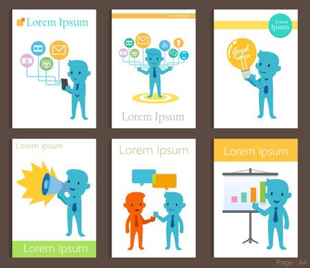 business communication: Set of Brochure Design business communication Templates.