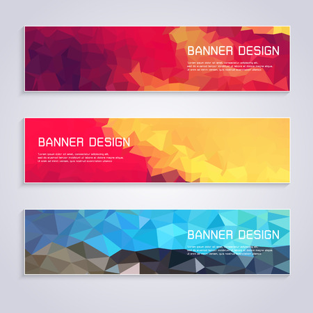 Geometric pattern banner template