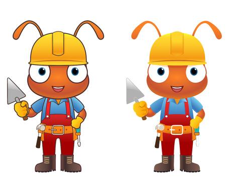 hormiga caricatura: Personaje de dibujos animados ingeniero Ant