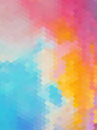 Abstract honeycomb vintage color background Çizim
