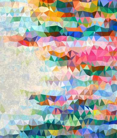 grudge: Abstract colorful triangles with gray grudge texture