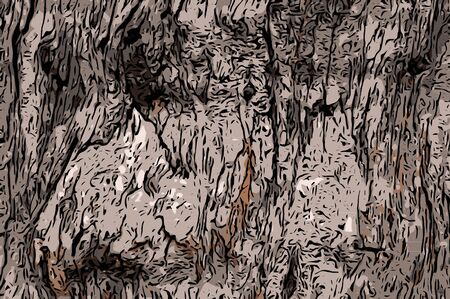 form: Abstract wooden texture form brown and black free form pattern Illustration
